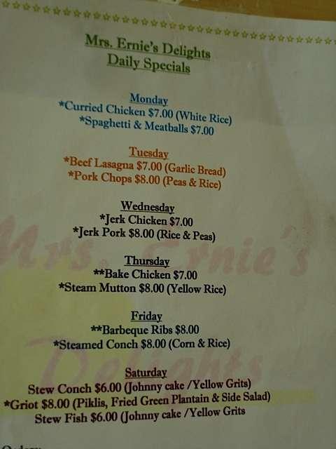 Typical Bahamas Menus Bahamas Food Guide